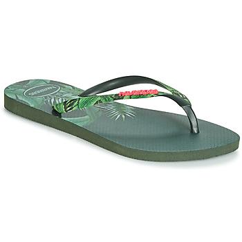 kengät Naiset Varvassandaalit Havaianas SLIM SENSATION Green