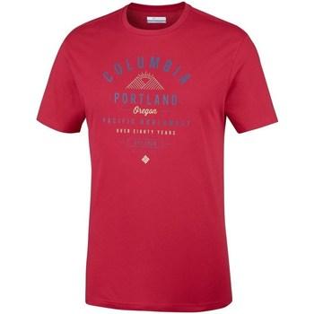 vaatteet Miehet Lyhythihainen t-paita Columbia Leathan Trail Punainen