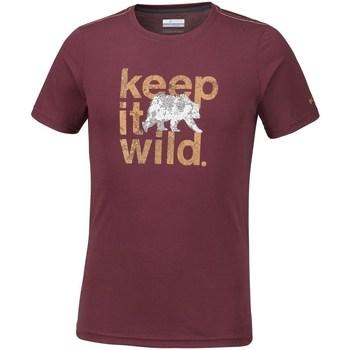 vaatteet Miehet Lyhythihainen t-paita Columbia Miller Valley Tummanpunainen