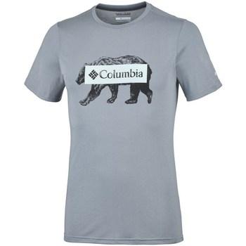 vaatteet Miehet Lyhythihainen t-paita Columbia Box Logo Bear Harmaat