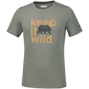 vaatteet Miehet Lyhythihainen t-paita Columbia Miller Valley Oliivinväriset