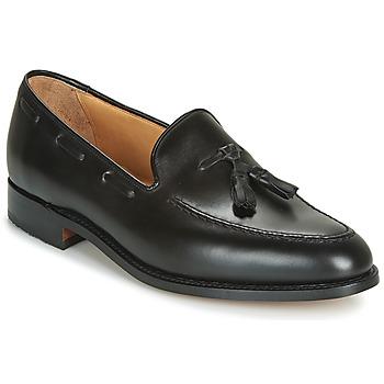 kengät Miehet Mokkasiinit Barker TASSEL Black