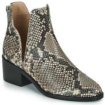 kengät Naiset Bootsit Steve Madden CONSPIRE Beige / Python