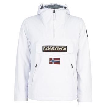vaatteet Miehet Parkatakki Napapijri RAINFOREST POCKET Valkoinen