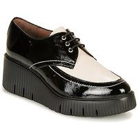 kengät Naiset Derby-kengät Wonders E6204-LACK-NEGRO-MILK Musta / Valkoinen
