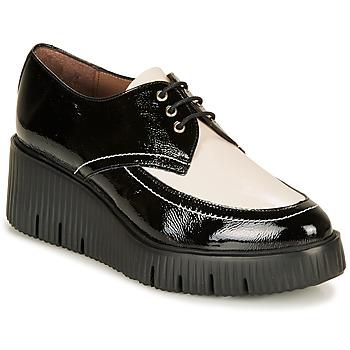 kengät Naiset Derby-kengät Wonders E6204-LACK-NEGRO-MILK Black / White