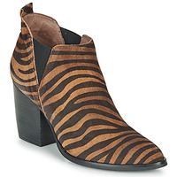 kengät Naiset Nilkkurit Wonders M4102-ZEBRATO-CUERO Brown / Black