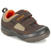 kengät Pojat Matalavartiset tennarit Crocs DAWSON HOOK & LOOP Brown