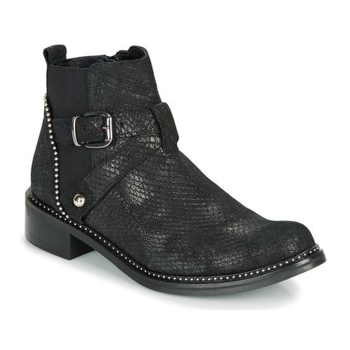 kengät Naiset Bootsit Regard ROALA V1 CROSTE SERPENTE PRETO Black