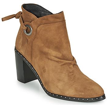 kengät Naiset Nilkkurit Philippe Morvan BATTLES V3 CHEV VEL Camel