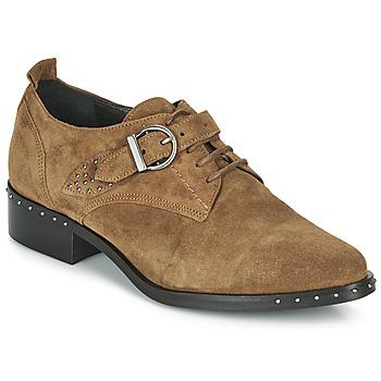 kengät Naiset Derby-kengät Philippe Morvan SAND V4 CRTE VEL Kamelinruskea
