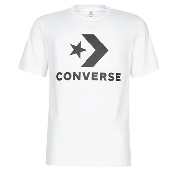 vaatteet Miehet Lyhythihainen t-paita Converse STAR CHEVRON Valkoinen