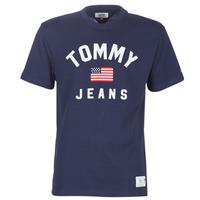 vaatteet Miehet Lyhythihainen t-paita Tommy Jeans TJM USA FLAG TEE Laivastonsininen
