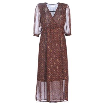 vaatteet Naiset Pitkä mekko See U Soon 9221839 Musta / Punainen