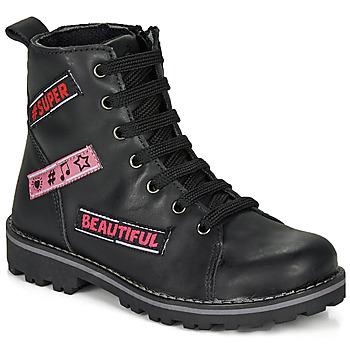 kengät Tytöt Bootsit Citrouille et Compagnie LIBIDOU Black