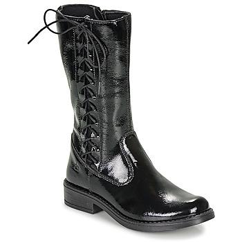kengät Tytöt Saappaat Citrouille et Compagnie LAMINOTE Black