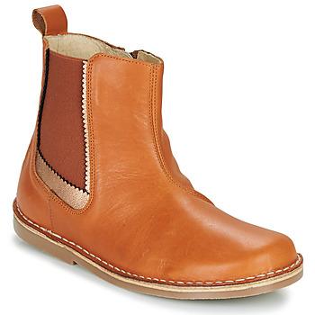 kengät Tytöt Bootsit Citrouille et Compagnie LOUTE Camel