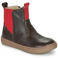 kengät Pojat Bootsit Citrouille et Compagnie JRYNE Ruskea / Punainen