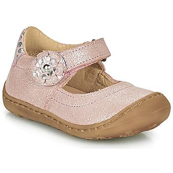 kengät Tytöt Balleriinat Citrouille et Compagnie LASKIMA Vaaleanpunainen