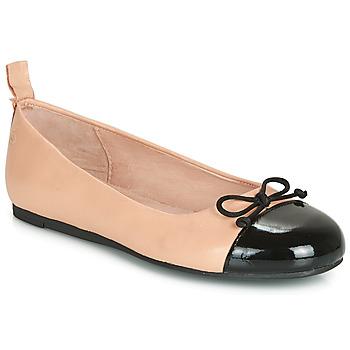 kengät Tytöt Balleriinat Citrouille et Compagnie LIOGE Nude / Black