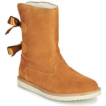 kengät Tytöt Bootsit Citrouille et Compagnie LILINA Camel