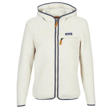 vaatteet Naiset Fleecet Patagonia W'S RETRO PILE HOODY White