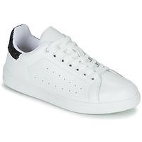 kengät Naiset Matalavartiset tennarit Yurban SATURNA Valkoinen / Musta