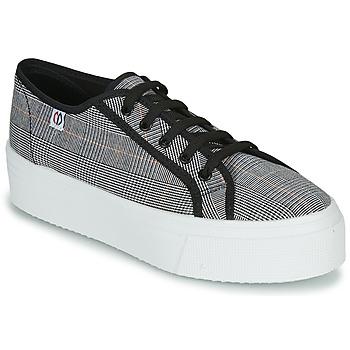 kengät Naiset Matalavartiset tennarit Yurban SUPERTELA Black / White