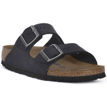kengät Sandaalit Birkenstock ARIZONA SFB BLACK OILED CALZ S Nero