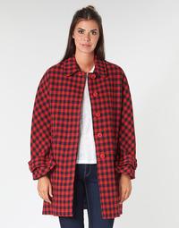 vaatteet Naiset Paksu takki Benetton SIDUDEL Brown / Monivärinen