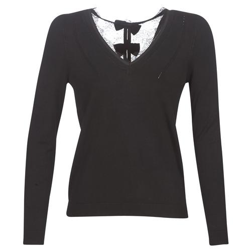 vaatteet Naiset Neulepusero Naf Naf MITOU LONG NEW Black