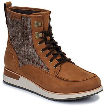 kengät Naiset Bootsit Merrell ROAM MID Brown