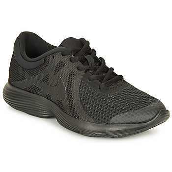 kengät Pojat Matalavartiset tennarit Nike REVOLUTION 4 GRADE SCHOOL Black