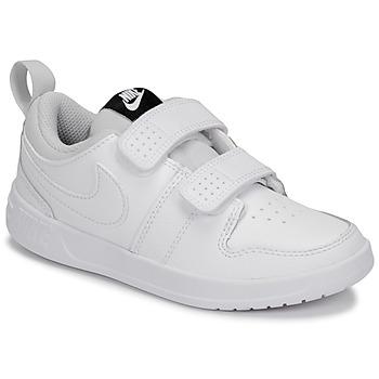 kengät Lapset Matalavartiset tennarit Nike PICO 5 PRE-SCHOOL Valkoinen