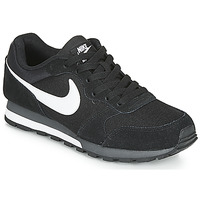 kengät Miehet Matalavartiset tennarit Nike MD RUNNER 2 Black / White