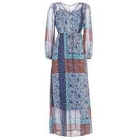 vaatteet Naiset Pitkä mekko Cream SAMA Blue / Brown