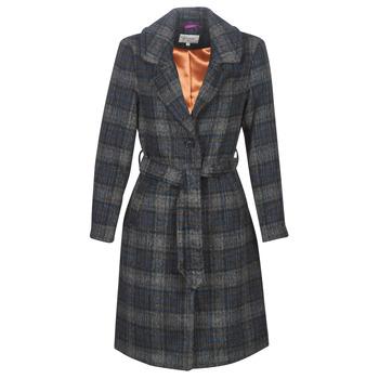vaatteet Naiset Paksu takki Cream CHEKIA Laivastonsininen / Grey