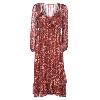 vaatteet Naiset Pitkä mekko Cream NILA Red