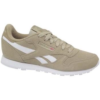 kengät Lapset Matalavartiset tennarit Reebok Sport Classic Leather Valkoiset,Beesit