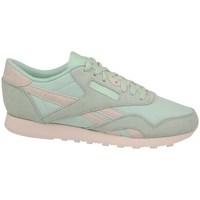 kengät Naiset Matalavartiset tennarit Reebok Sport CL Nylon Vaaleanvihreä,Vaaleanpunaiset