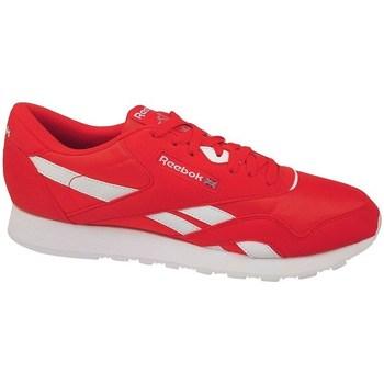 kengät Miehet Matalavartiset tennarit Reebok Sport CL Nylon Color Valkoiset,Punainen
