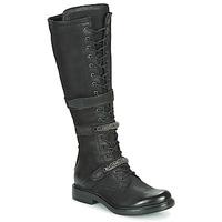 kengät Naiset Saappaat Mjus CAFE HIGH Black