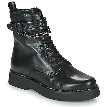 kengät Naiset Bootsit Mjus TRIPLE STRAP Black