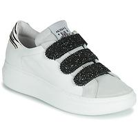 kengät Naiset Matalavartiset tennarit Meline SCRATCHO Valkoinen / Glitter