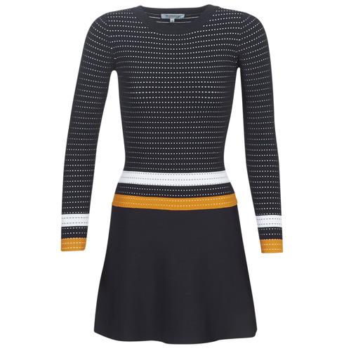 vaatteet Naiset Lyhyt mekko Morgan ROXFA Laivastonsininen / White / Yellow