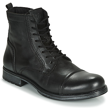 kengät Miehet Bootsit Jack & Jones JFW RUSSEL LEATHER Black