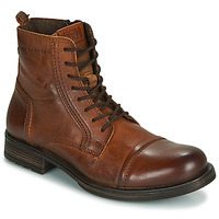 kengät Miehet Bootsit Jack & Jones JFW RUSSEL LEATHER Cognac