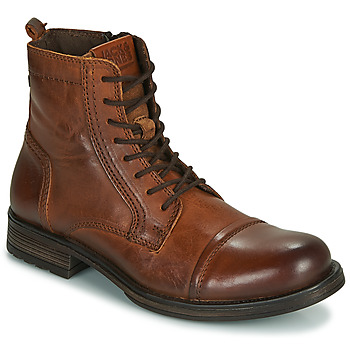kengät Miehet Bootsit Jack & Jones JFW RUSSEL LEATHER Konjakki