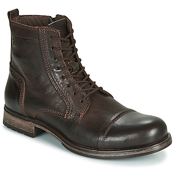 kengät Miehet Bootsit Jack & Jones JFW RUSSEL LEATHER Brown