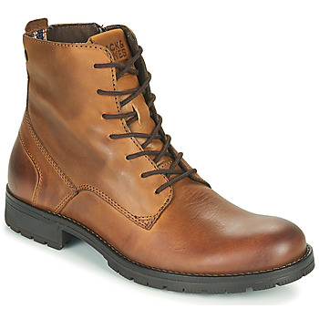 kengät Miehet Bootsit Jack & Jones JFW ORCA LEATHER Cognac